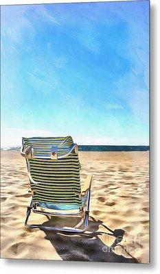 The Beach Chair Metal Print