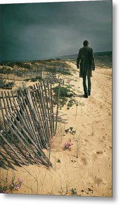 The Beach Man Metal Print by Carlos Caetano