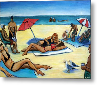 The Beach Metal Print by Valerie Vescovi