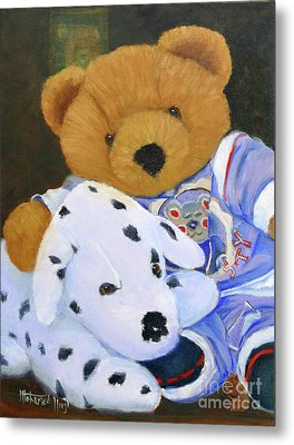 The Bear And His Dog Metal Print by Mohamed Hirji