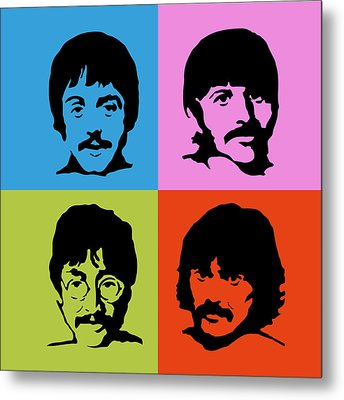 The Beatles Colors Metal Print by Caio Caldas