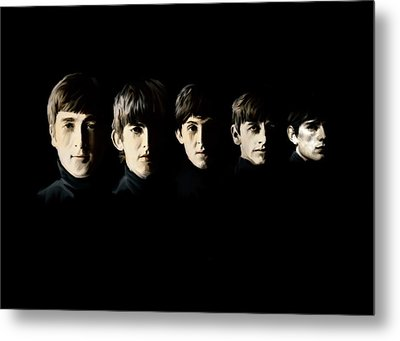 The Beatles Destinies Fate Metal Print by Iconic Images Art Gallery David Pucciarelli
