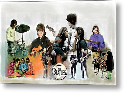 Metal Print featuring the painting The Beatles Fabs by Iconic Images Art Gallery David Pucciarelli