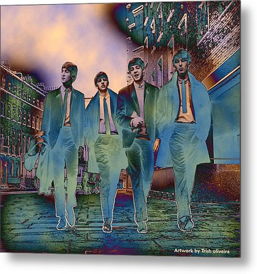 The Beatles Forever Metal Print by Trish Oliveira