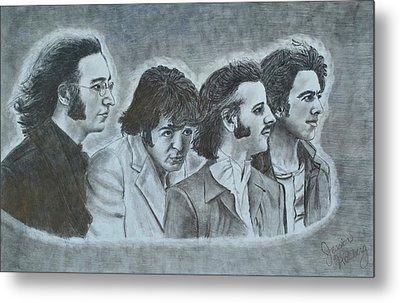 The Beatles  Metal Print by Jessica Hallberg