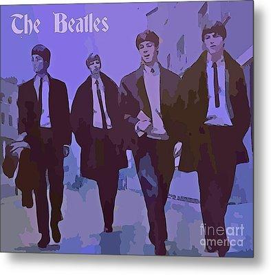 The Beatles Metal Print by John Malone