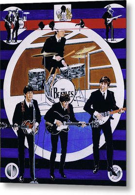 The Beatles - Live On The Ed Sullivan Show Metal Print by Sean Connolly