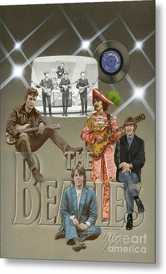 The Beatles Metal Print by Marshall Robinson
