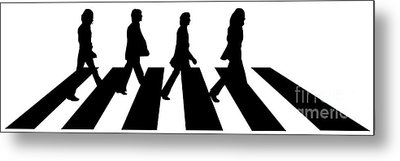 The Beatles No.02 Metal Print by Caio Caldas