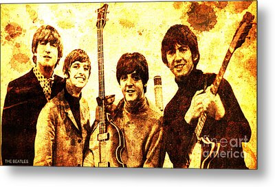 The Beatles Metal Print by Pablo Franchi