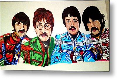 The Beatles  Metal Print by Pauline Murphy