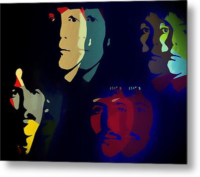 The Beatles Psychedelic Metal Print