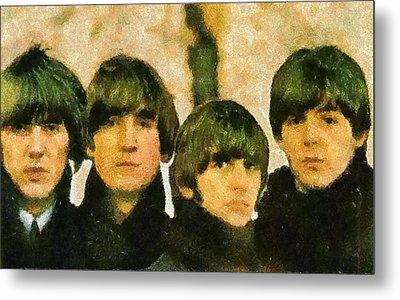 The Beatles Metal Print by Galeria Zullian  Trompiz