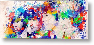 The Beatles Tb Metal Print by Bekim Art