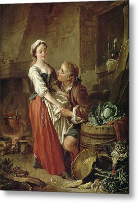 The Beautiful Kitchen Maid Metal Print by Francois Boucher