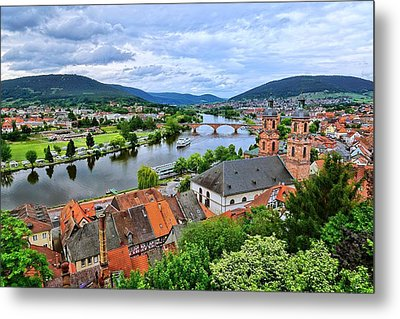 Along The Beautiful Rhine Metal Print by Lanis Rossi