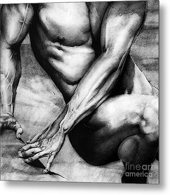 The Beauty Of A Nude Man Metal Print by RjFxx at beautifullart com