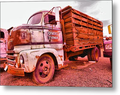 Metal Print featuring the photograph The Beauty Of An Old Truck by Jeff Swan