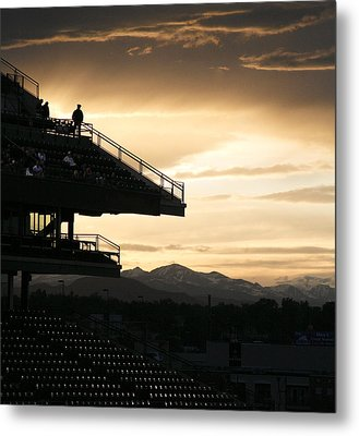 The Beauty Of Baseball In Colorado Metal Print by Marilyn Hunt