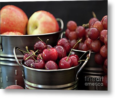 The Beauty Of Fresh Fruit Metal Print by Sherry Hallemeier