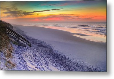 The Beauty Of Topsail Island Metal Print by Karen Wiles