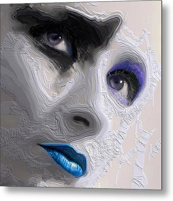The Beauty Regime Blue Metal Print by ISAW Gallery