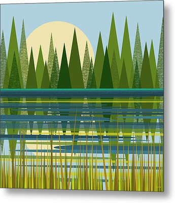 The Beaver Pond Metal Print by Val Arie