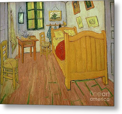 The Bedroom Metal Print by Vincent van Gogh