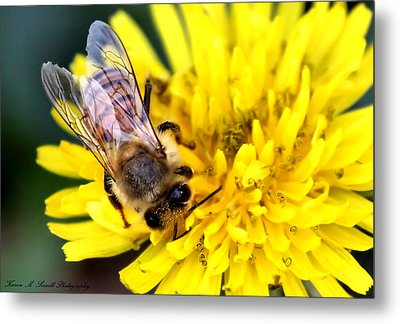 The Bee Metal Print by Karen Scovill