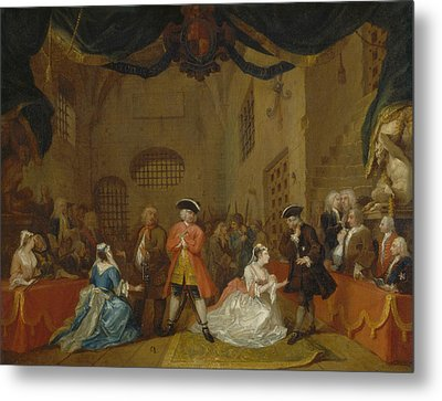 The Beggar's Opera Metal Print by William Hogarth