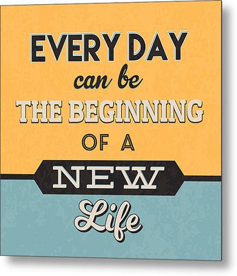 The Beginning Of A New Life Metal Print by Naxart Studio