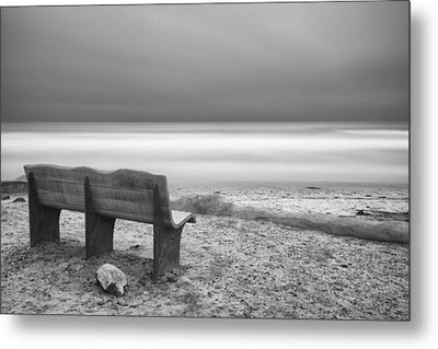 The Bench Metal Print by Larry Marshall