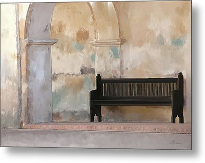 The Bench Metal Print by Michael Greenaway