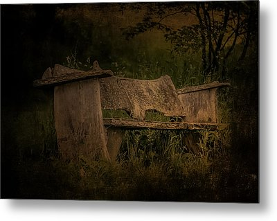 Metal Print featuring the photograph The Bench by Ryan Photography