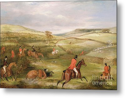 The Berkeley Hunt, 1842 The Chase  Metal Print by Francis Calcraft Turner