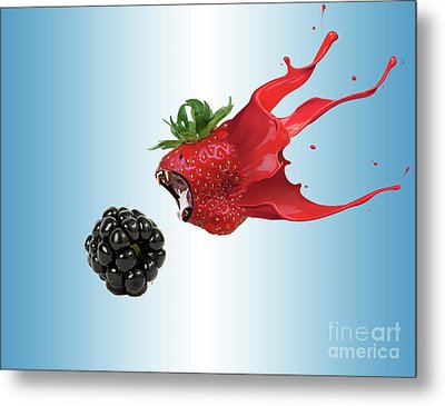 Metal Print featuring the photograph The Berries by Juli Scalzi