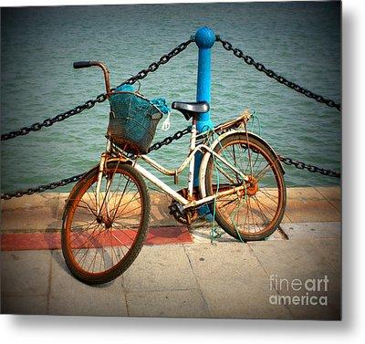 The Bicycle Metal Print by Carol Groenen