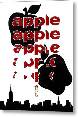 The Big Apple Rotten Apple Metal Print by Turtle Caps