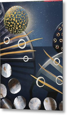 Metal Print featuring the painting The Big Bang by Michal Mitak Mahgerefteh