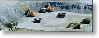 The Big Dig Metal Print by Phill Petrovic
