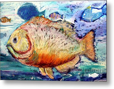 Metal Print featuring the painting The Big Fish by Diane Ursin