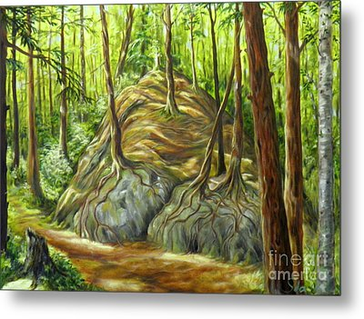 the Big Rock Metal Print