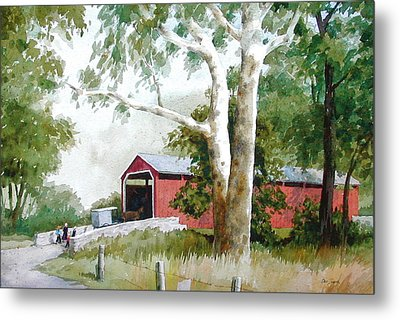 The Big Sycamores Metal Print by Faye Ziegler