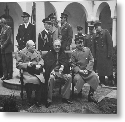The Big Three -- Ww2 Leaders Metal Print by War Is Hell Store
