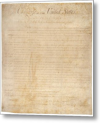 The Bill Of Rights. The First Ten Metal Print