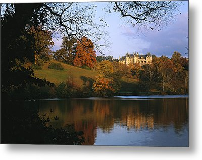 The Biltmore Estate Is Reflected Metal Print