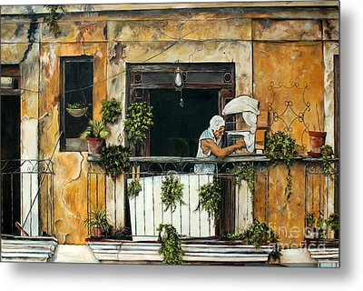 The Bird Cage, Cuba Metal Print by Anna-maria Dickinson