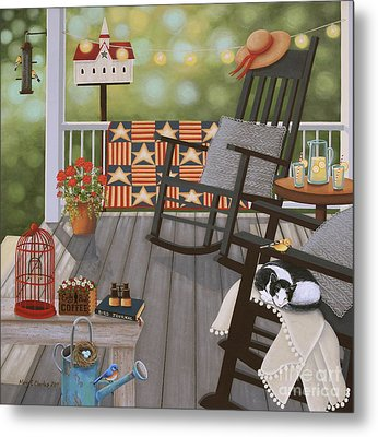 The Bird Watcher Metal Print by Mary Charles