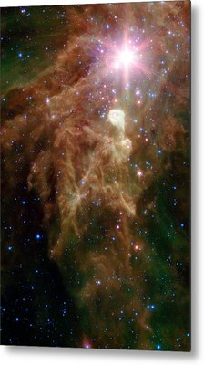 The Birth Of A Star In Outer Space Metal Print by American School