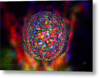The Birth Of Color Metal Print